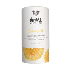 Bodhi Tea - LuminosiTEA Turmeric Collagen Latte Powder 150 gm Cylinder