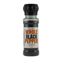 Core Organics - Whole Black Organic Peppercorn Grinder 100g Per Unit