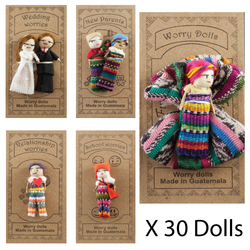Worry Dolls 30 x Dolls Per Display - 50% OFF