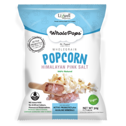 Livwell - Wholepops with Probiotics and Pink Salt 30gm