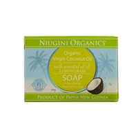 Niugini Organics - Coconut Lemongrass Soap Per Bar