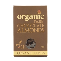 Organic Times - Dark Chocolate Coated Almonds 150g Per Packet