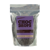 Organic Times - Courveture Dark Chocolate Drops 200g Per Packet