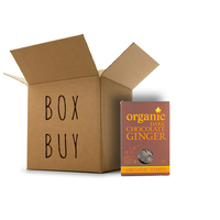 Organic Times - Dark Chocolate Coated Ginger 12 x 150g Per Box