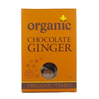 Organic Times - Milk Chocolate Coated Ginger 150g Per Packet