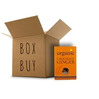 Organic Times - Milk Chocolate Coated Ginger 12 x 150g Per Box