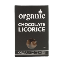 Organic Times - Milk Chocolate Coated Licorice 150g Per Packet