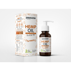 Pawsome Organics - Org. Hemp Oil with Turmeric for Cats and Dogs 100ml