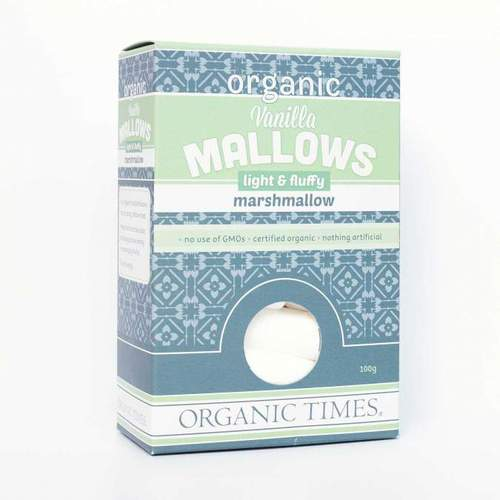 Organic Times - Organic Marshmellows 100g Per Packet
