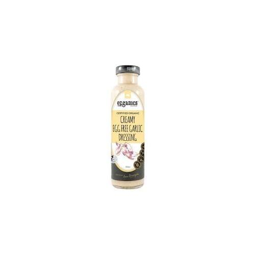 Ozganics - Creamy Garlic Dressing 350ml Per Bottle