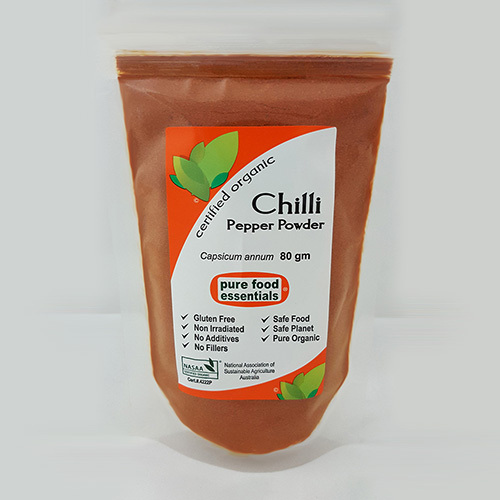 Pure Food Essentials - Chilli Powder 80g Per Packet